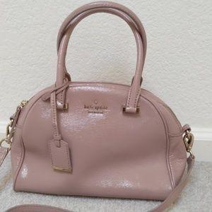 Kate Spade Patent Dusty Pink Satchel Polka Dot